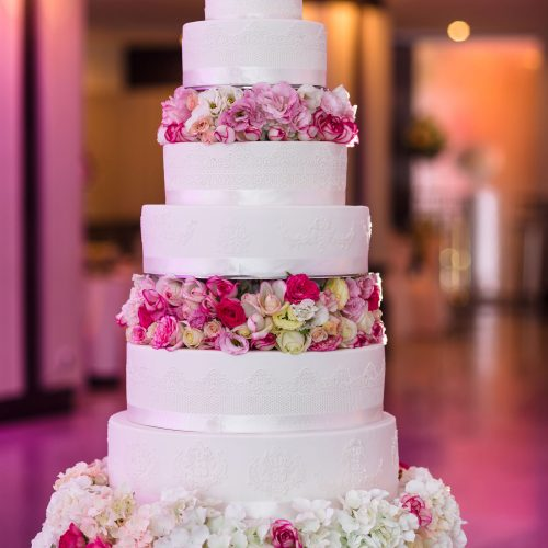 5-Tier-Pink-Floral-Wedding-Cake
